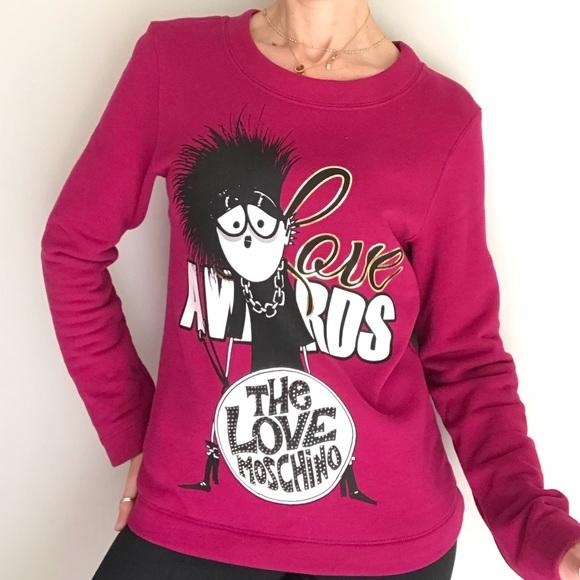 db5156c9e Love Moschino Tops | Moschino Sweater Graphic Sweatshirt | Poshmark
